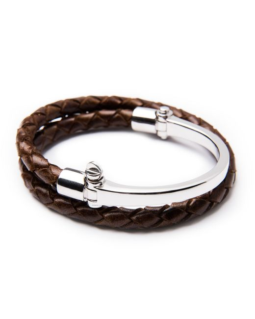 Miansai | Brown Half-cuff With Woven Bracelet | Lyst