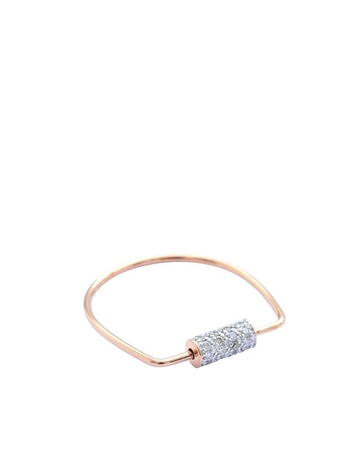 Ginette NY | Pink Mini Straw Diamond Ring | Lyst