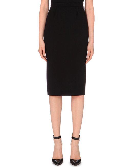 Roland Mouret | Black Arreton Wool-crepe Pencil Skirt | Lyst