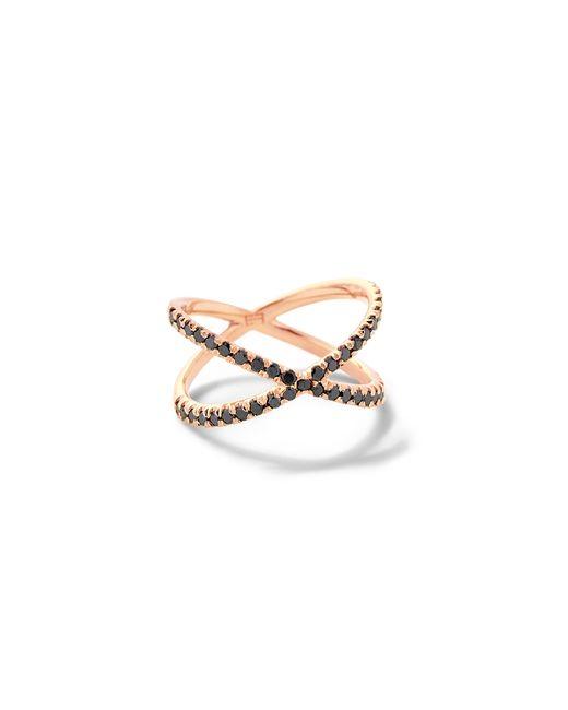 Eva Fehren | Pink Shorty Ring With Black Diamonds | Lyst