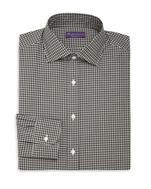 Ralph Lauren Purple Label | Black Purple Label Aston Checked Dress Shirt for Men | Lyst