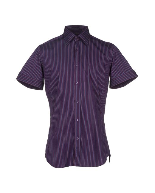 Emanuel ungaro Shirt in Purple for Men (Dark purple) | Lyst