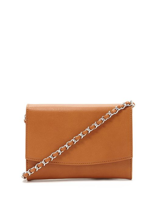 Forever 21 | Brown Chain-trim Crossbody | Lyst