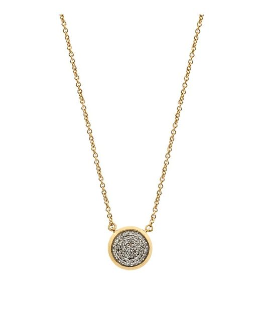 Links of London | Metallic Diamond Essentials 18ct Gold Vermeil Diamond Pave Round Pendant | Lyst