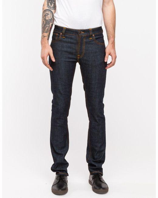 Nudie Jeans   Blue Thin Finn Organic Dry Twill for Men   Lyst