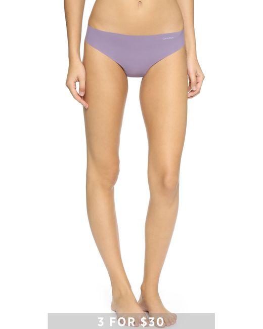 Calvin Klein | Purple Invisibles Thong - Aquarium | Lyst
