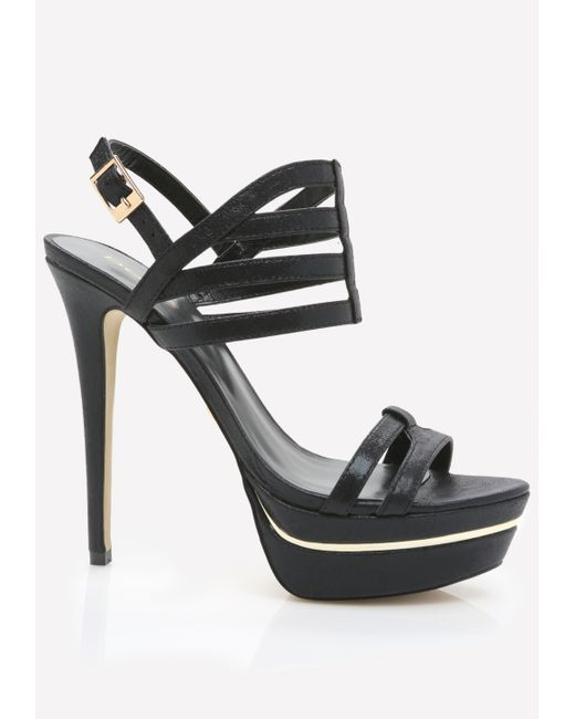 bebe hastii cage sandals in black blk save 8 lyst