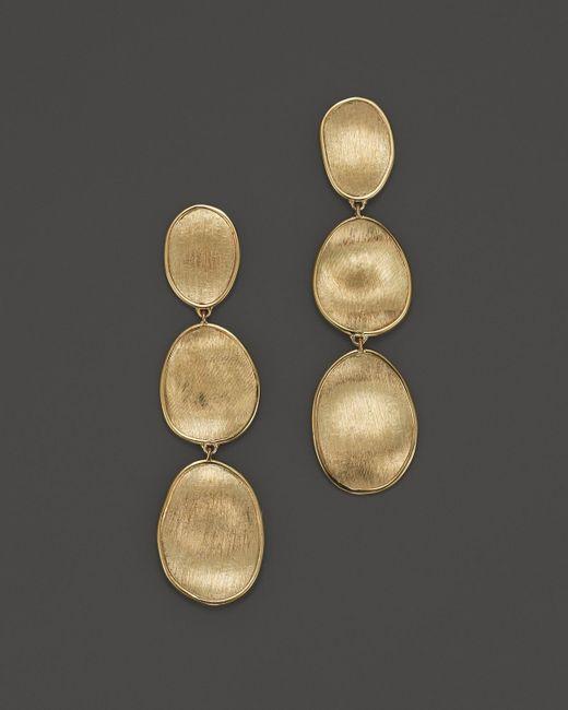 Marco Bicego | Metallic 18k Yellow Gold Lunaria Three Tiered Drop Earrings | Lyst