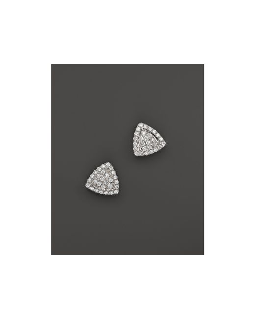 Dana Rebecca | 14k White Gold And Diamond Emily Sarah Triangle Stud Earrings | Lyst