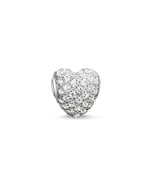 Thomas Sabo | Karma Beads White Pave Heart Bead | Lyst