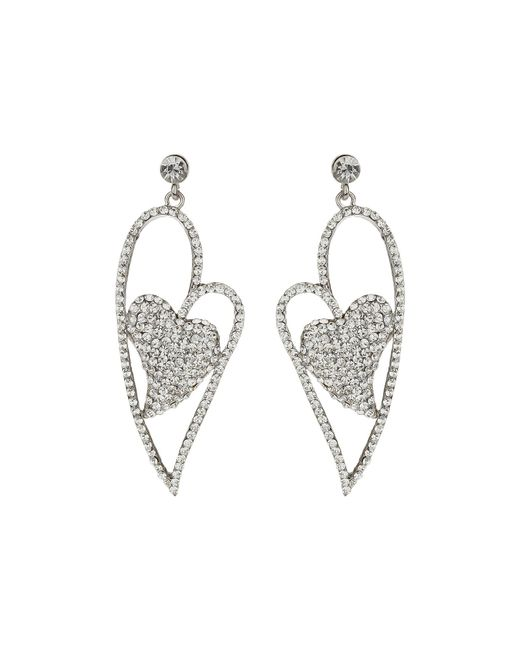 Mikey | Metallic Heart Earrings | Lyst