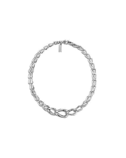 John Hardy | Metallic Bamboo Silver Necklace, 17"