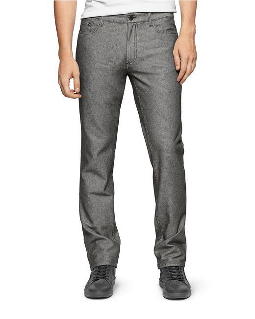calvin klein jeans slim straight pants in black for men. Black Bedroom Furniture Sets. Home Design Ideas