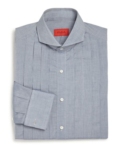 Isaia | Blue Rive Tuxedo Dress Shirt for Men | Lyst
