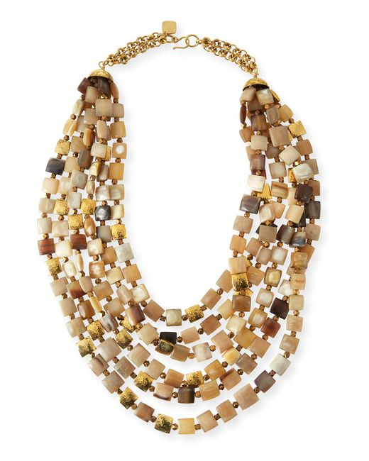 Ashley Pittman | Multicolor Kila Light Horn Multi-Strand Necklace | Lyst