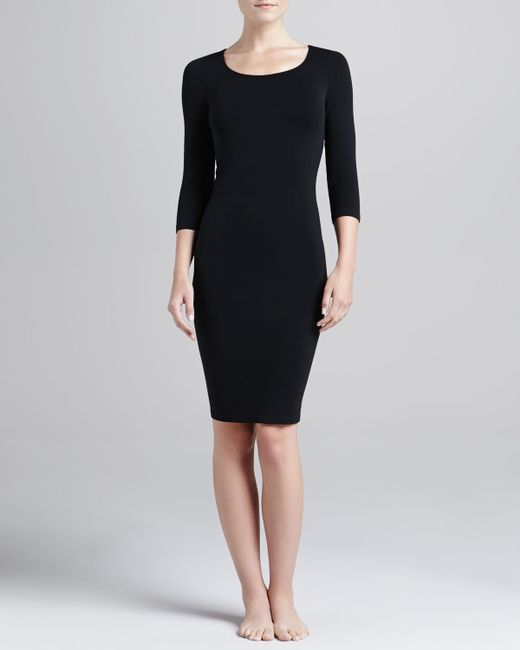 Wolford | Black Barcelona 3/4-sleeve Lounge Dress | Lyst