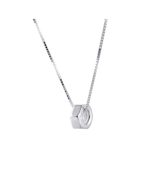 Edge Only | Metallic Hex Nut Pendant Xl Silver for Men | Lyst