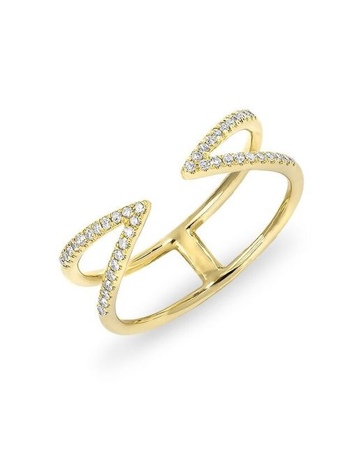 Anne Sisteron - Metallic 14kt Yellow Gold Diamond Open Spike Ring - Lyst