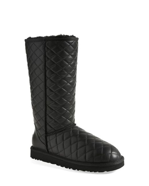 Ugg Classic Tall Diamond Quilted Boot In Black Lyst