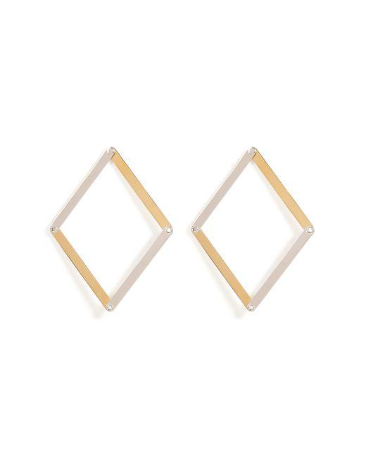 Delfina Delettrez | Metallic Silver Dettaille Unique Earrings - Silver | Lyst