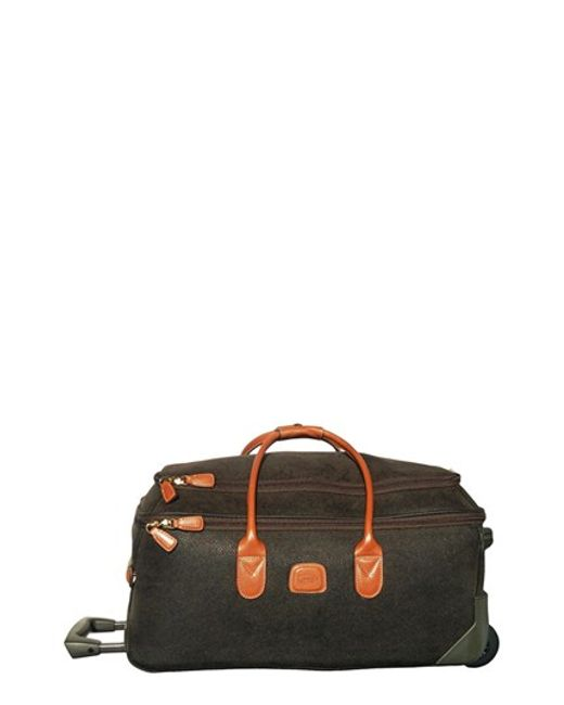 Bric's   Green 'life' Rolling Carry-on Duffel Bag for Men   Lyst