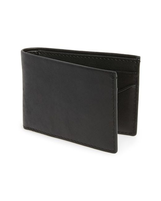 Skagen | Black 'ambold' Leather Wallet for Men | Lyst