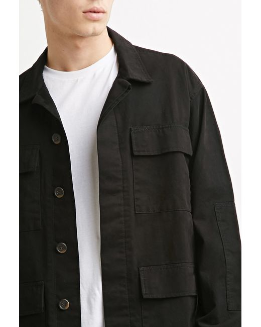 Forever 21 | Black Classic Utility Jacket for Men | Lyst