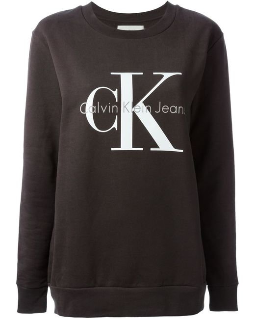 Ck jeans logo sweatshirt cardigan with buttons for Garderobe 90er jahre