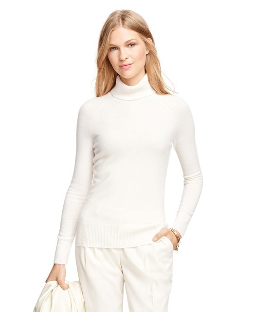 Brooks Brothers | White Cashmere Turtleneck | Lyst