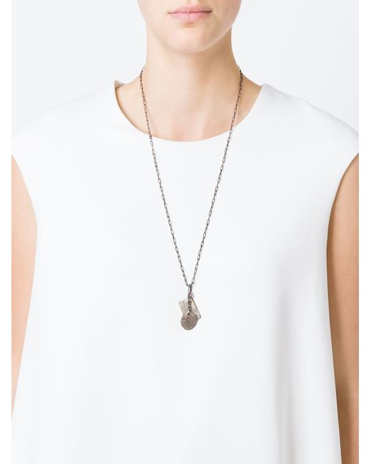 Henson | Metallic Hand Carved Dog Tags Necklace | Lyst