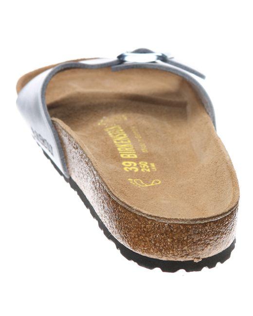 Birkenstock | Brown Madrid Metallic Sandals | Lyst