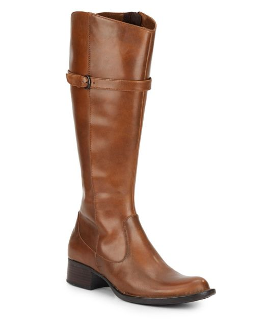 born wylla leather boots in brown save 74 lyst