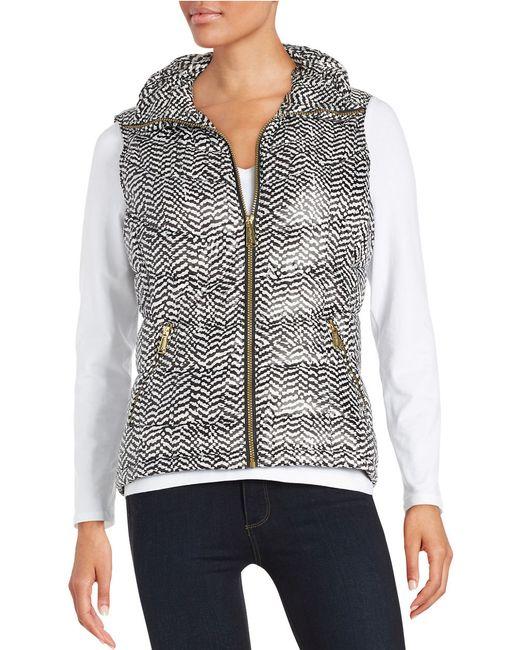 Calvin Klein | White Printed Puffer Vest | Lyst