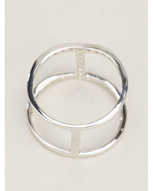 V Jewellery   Metallic 'spine' Ring   Lyst