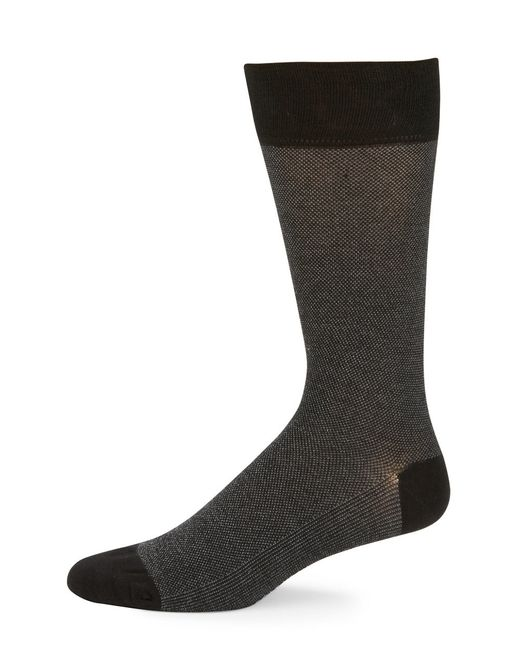 Cole Haan | Black Dotted Crew Socks for Men | Lyst