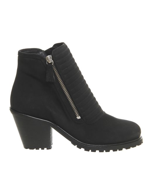 Office | Black Ignite Padded Front Ankle Boots | Lyst
