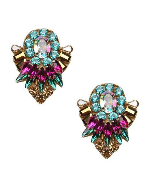 Deepa Gurnani | Metallic Earrings | Lyst
