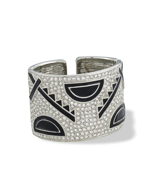 Kenneth Jay Lane | Metallic Art Deco Cuff | Lyst