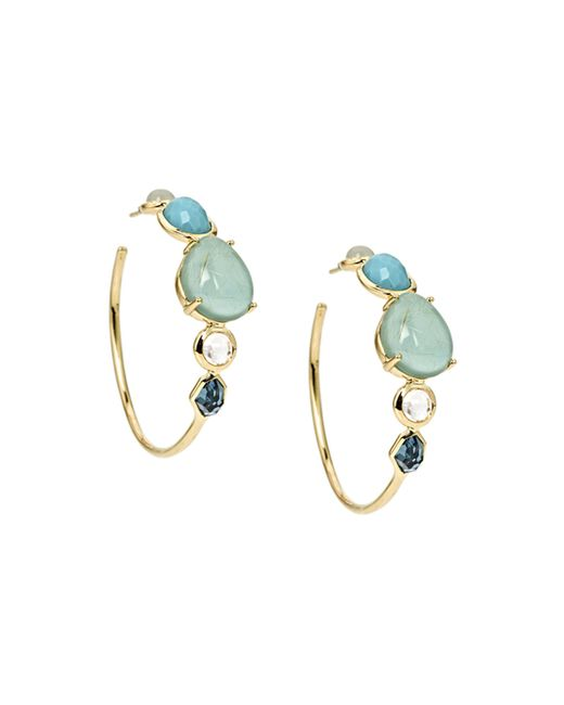 Ippolita | Blue 18k Gelato Hoop Earrings | Lyst