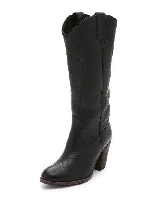 Frye   Black Ilana Pull On Boots   Lyst