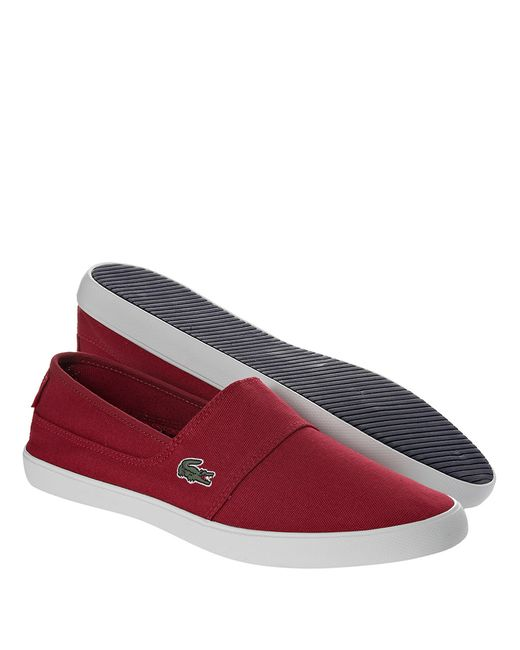 Lacoste | Red Marice Lcr Canvas Slip-on Shoes for Men | Lyst