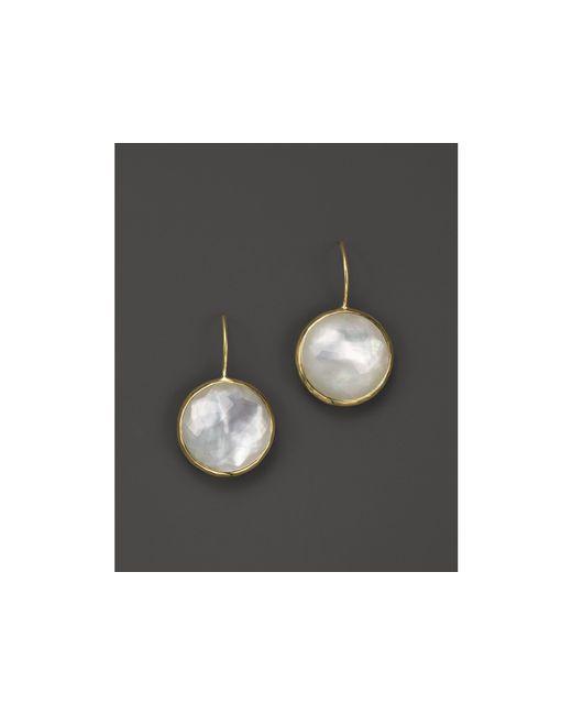 Ippolita | White Lollipop 18k Gold Medium Round Earrings | Lyst