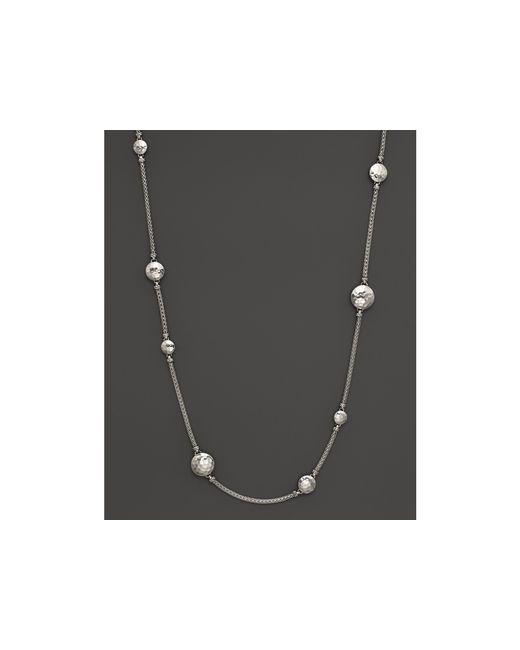 "John Hardy | Metallic Sterling Silver Palu Disc Station Sautoir Necklace, 36"" | Lyst"