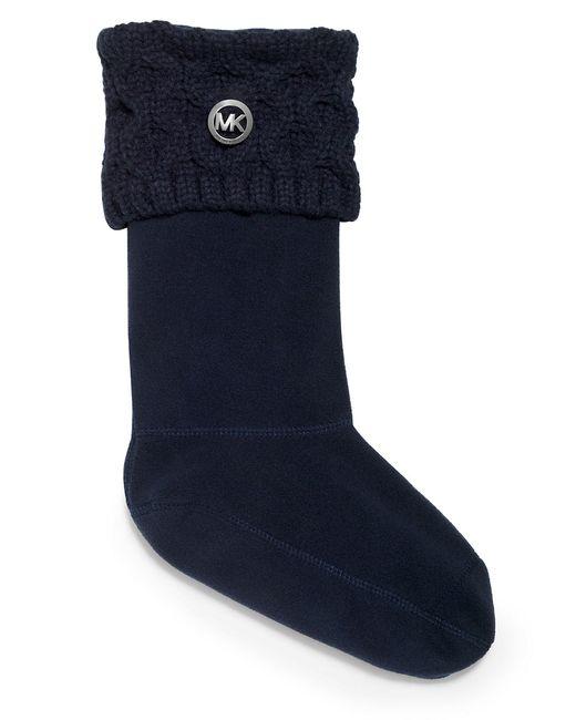 MICHAEL Michael Kors | Blue Logo Cable-knit Socks | Lyst