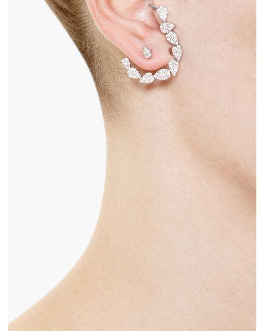 Yvonne Léon | White Yvonne Léon Diamond Chain Ear Cuff | Lyst