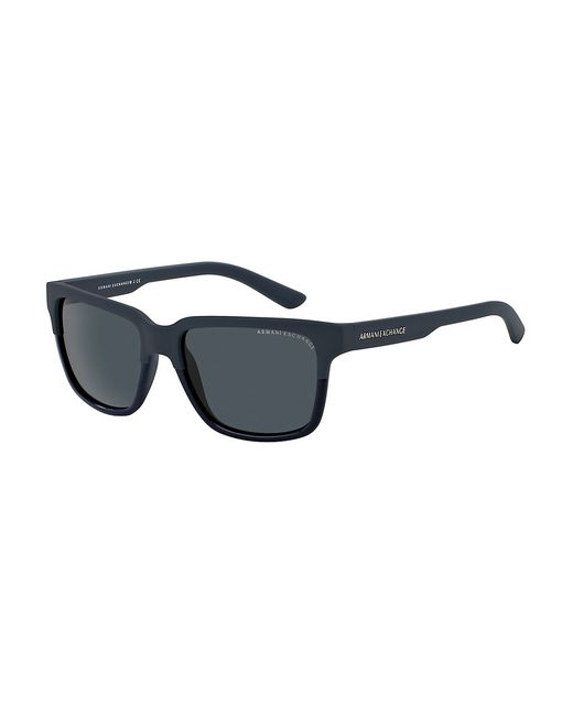 Armani Exchange | Blue Wayfarer Sunglasses for Men | Lyst