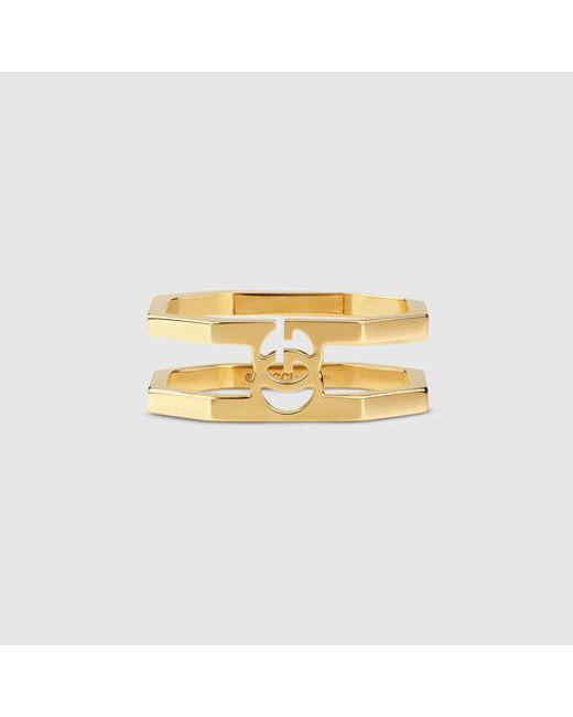 Gucci | Metallic Gold Running G Ring | Lyst