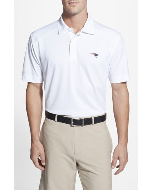 Cutter & Buck | White 'new England Patriots - Genre' Drytec Moisture Wicking Polo for Men | Lyst