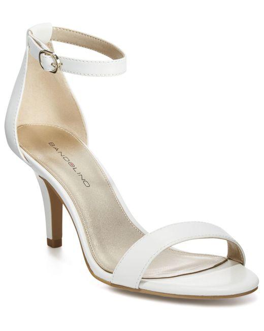 Bandolino Madia Dress Sandals In White Lyst