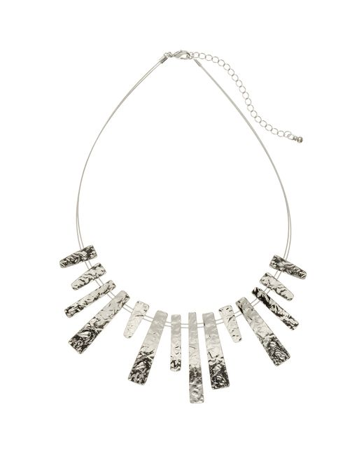 John Lewis | Metallic Hammered Metal Wire Bars Short Necklace | Lyst